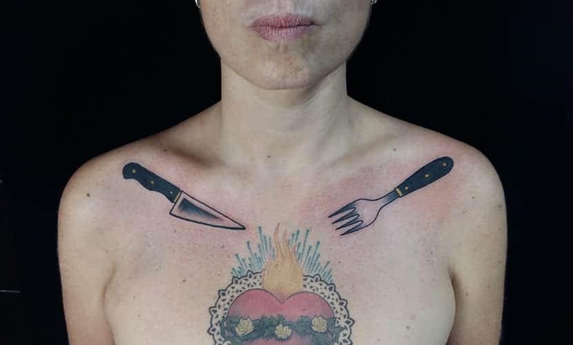 Tatuajes de cubiertos