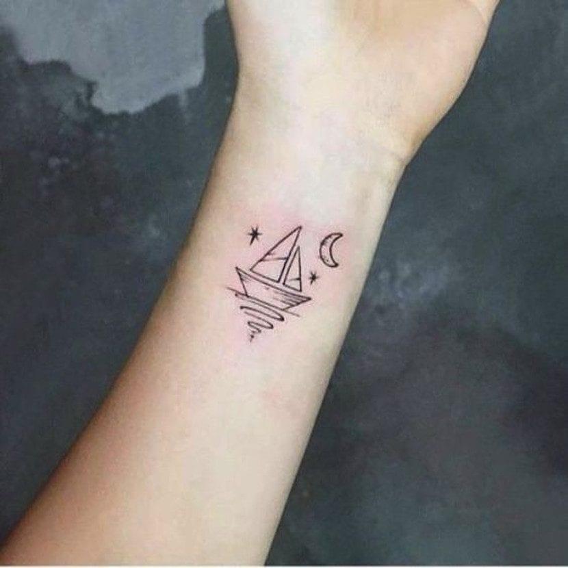 Tatuaje dibujo barco