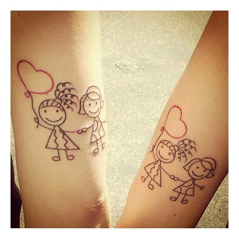 Tatuaje dibujo garabatos