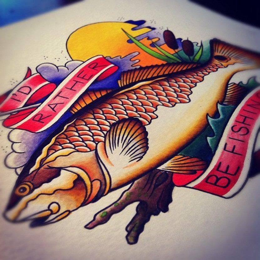 Tatuajes mensajes pescar