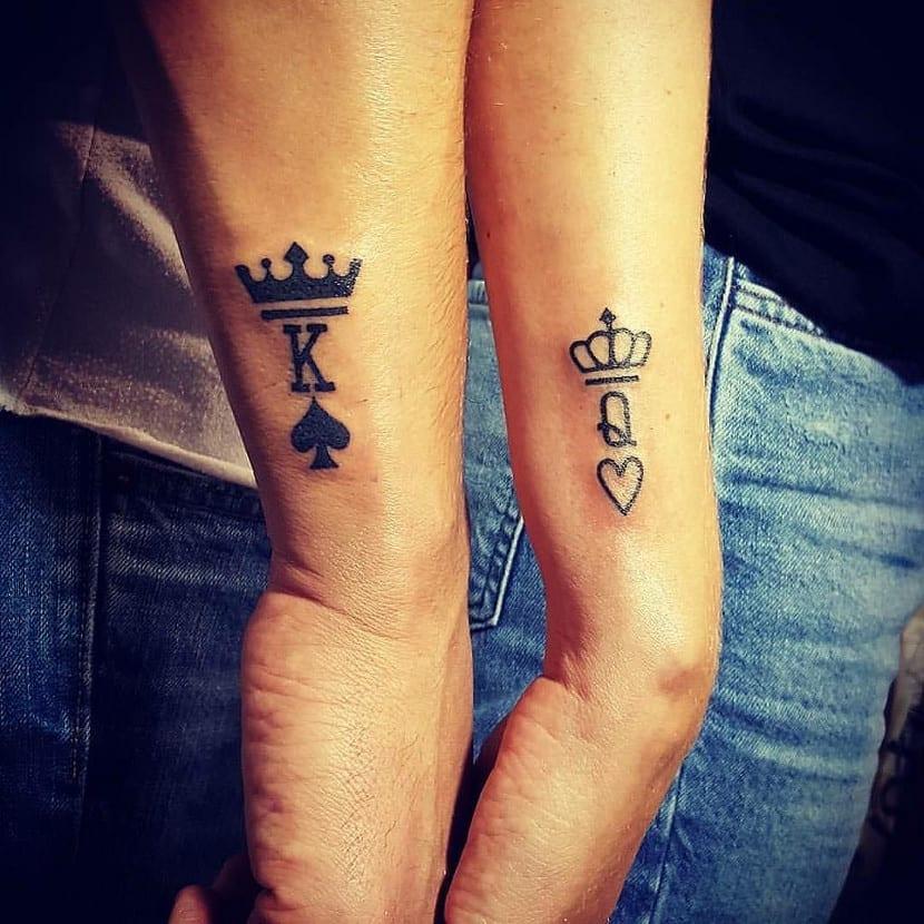 Tatuaje corona parejas