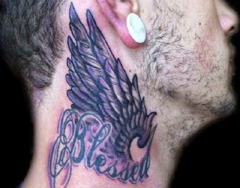 Tatuajes De Alas En El Cuello Recopilación De Diseños