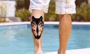 Tatuajes de lobos en el gemelo
