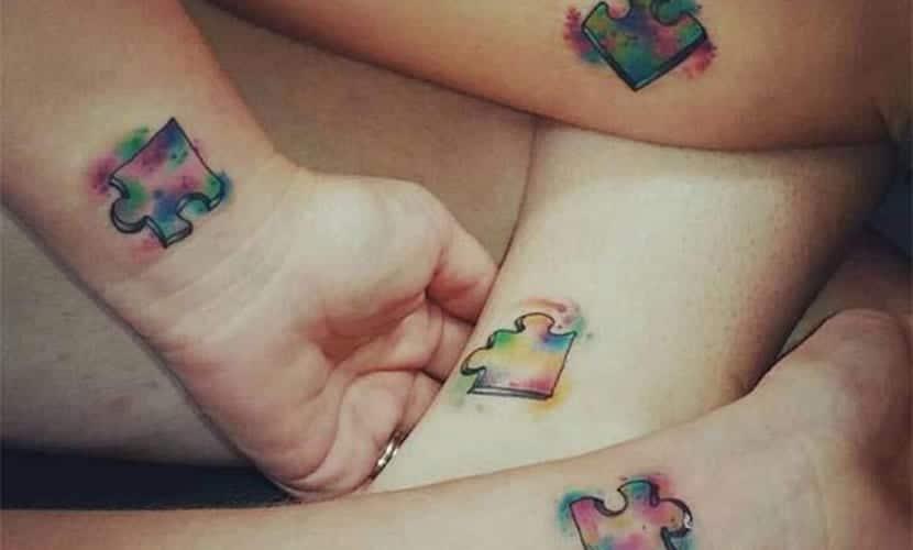 Tatuajes De Piezas De Puzles Recopilación De Diseños
