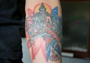 tatuaje diosa Ardhanarishwara