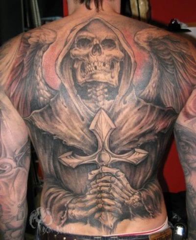 Tatuajes esqueletos espalda