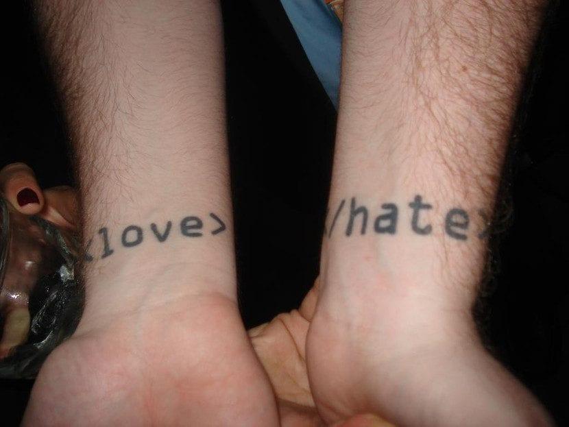 Tatuajes friki amor