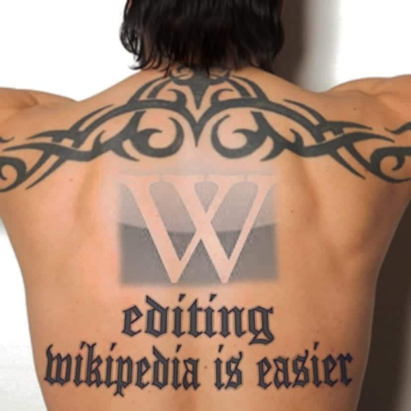 Proyecto tatuaje Wikipedia espalda