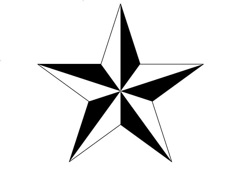 Tatuaje estrella náutica