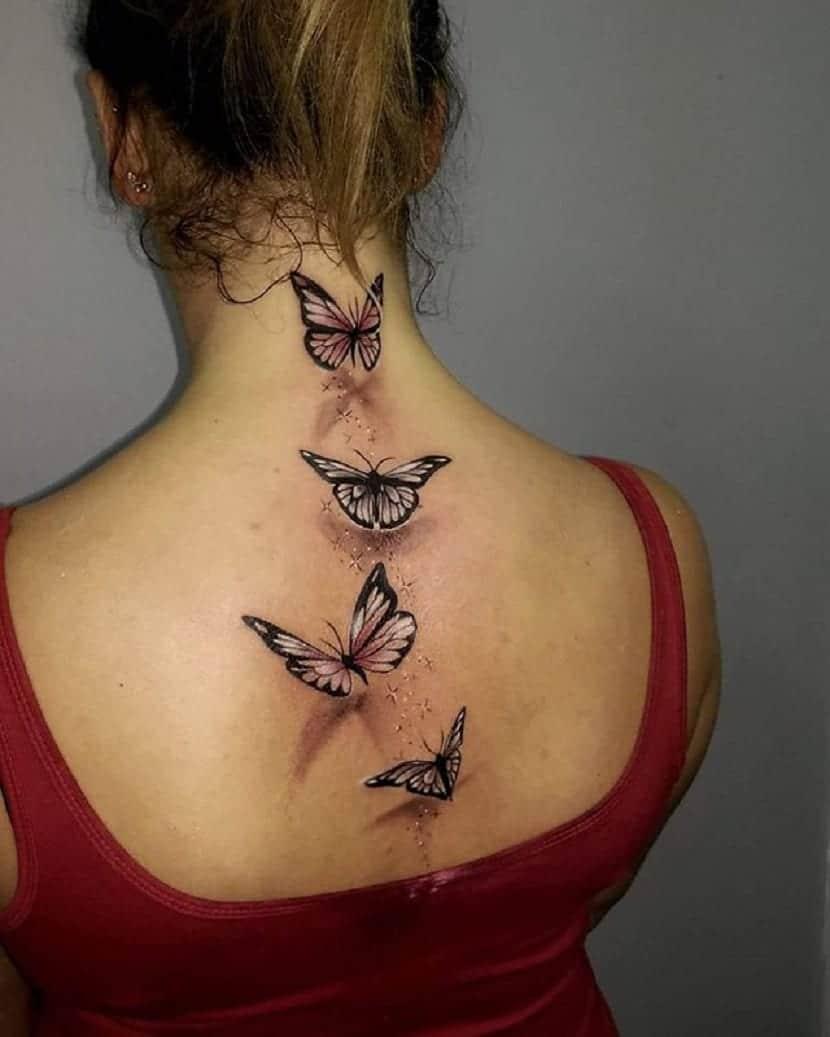 Tatuaje realista mariposas