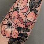Tatuajes de flor de melocotón