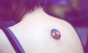 Tatuajes del símbolo de la paz