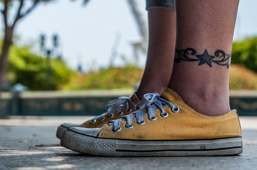 Tatuajes estrella para el tobillo