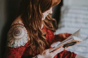 Tatuajes flor hombro girasol