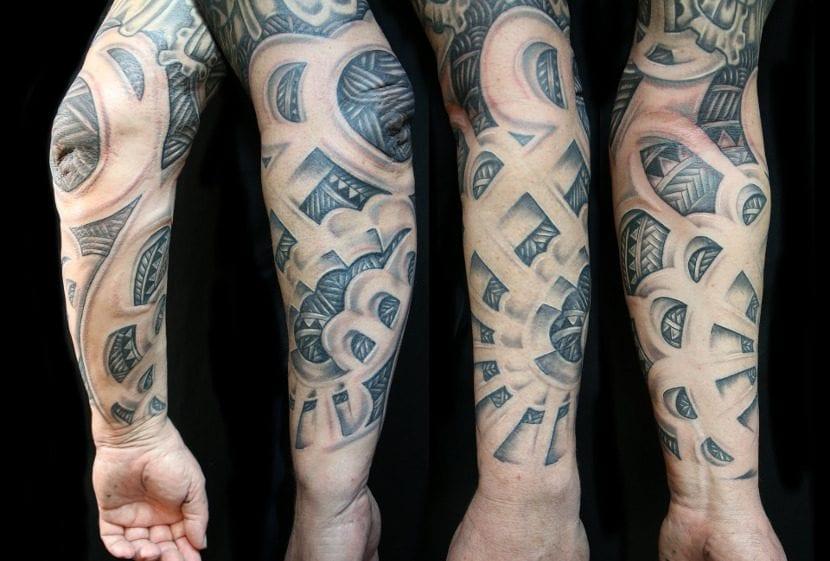 Tatuaje manga brazo