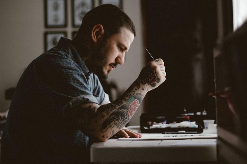 Tatuaje manga hombre