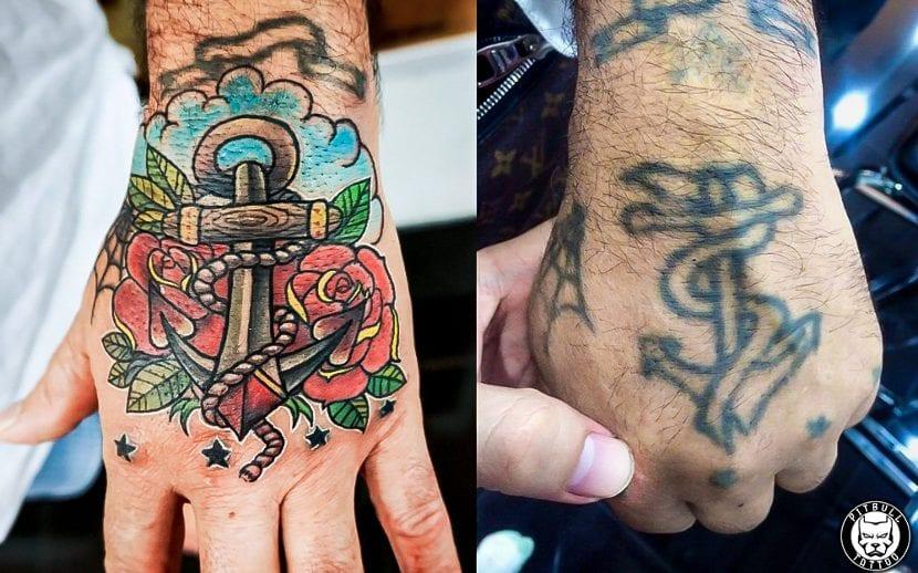 Rehacer tu tatuaje ancla