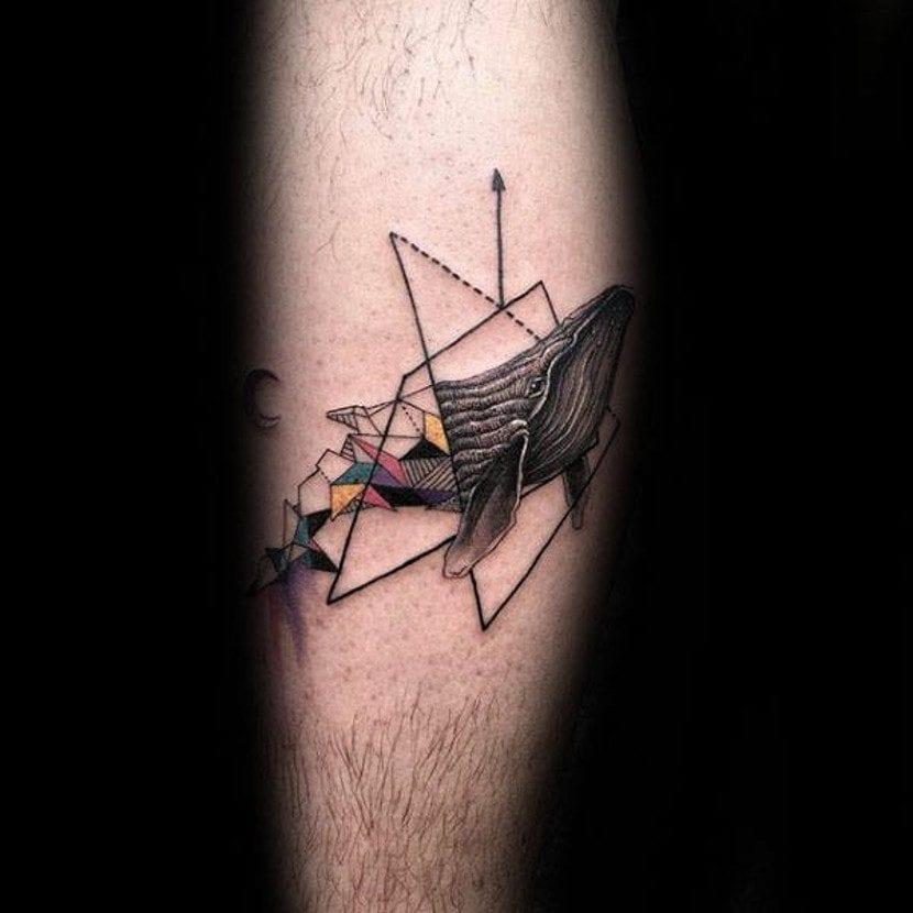 Tatuajes ballena geometrica