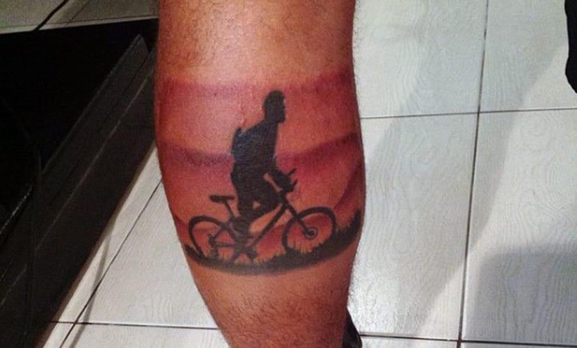 Tatuajes De Bicicletas En La Pierna Recopilación De Diseños