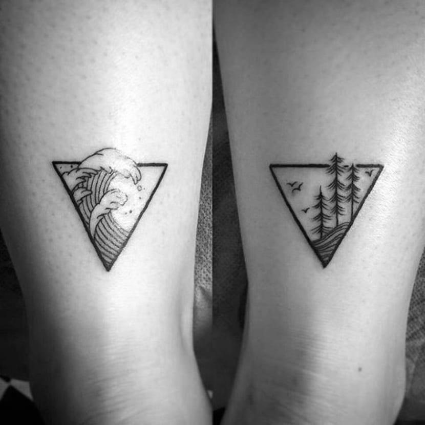 Tatuajes de mar y montaña