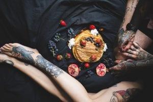 Antes de un Tatuaje comida