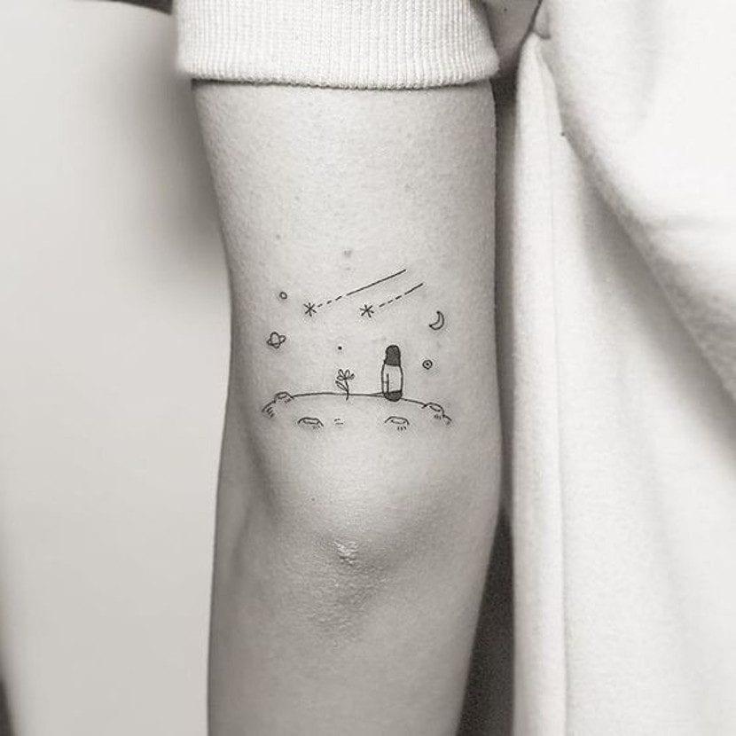 Tatuaje de planetas