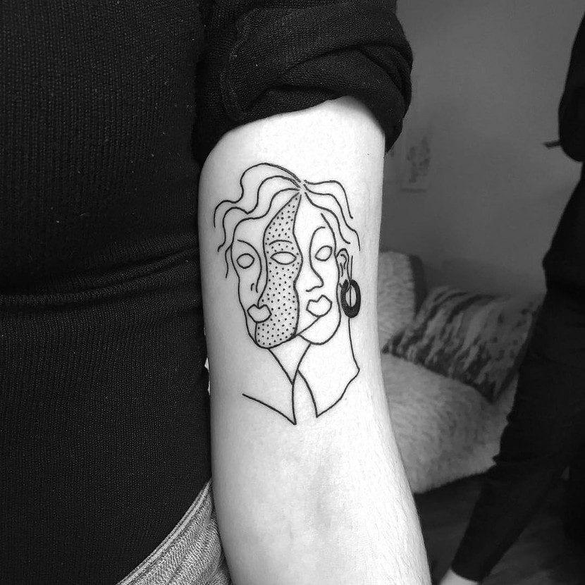 Tatuajes de caras artístico