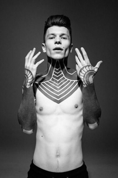 Tatuajes en el antebrazo blanco y negro
