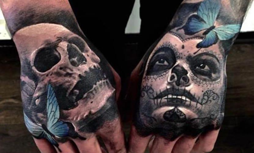 Tatuajes Realistas En Las Manos Recopilacion De Disenos