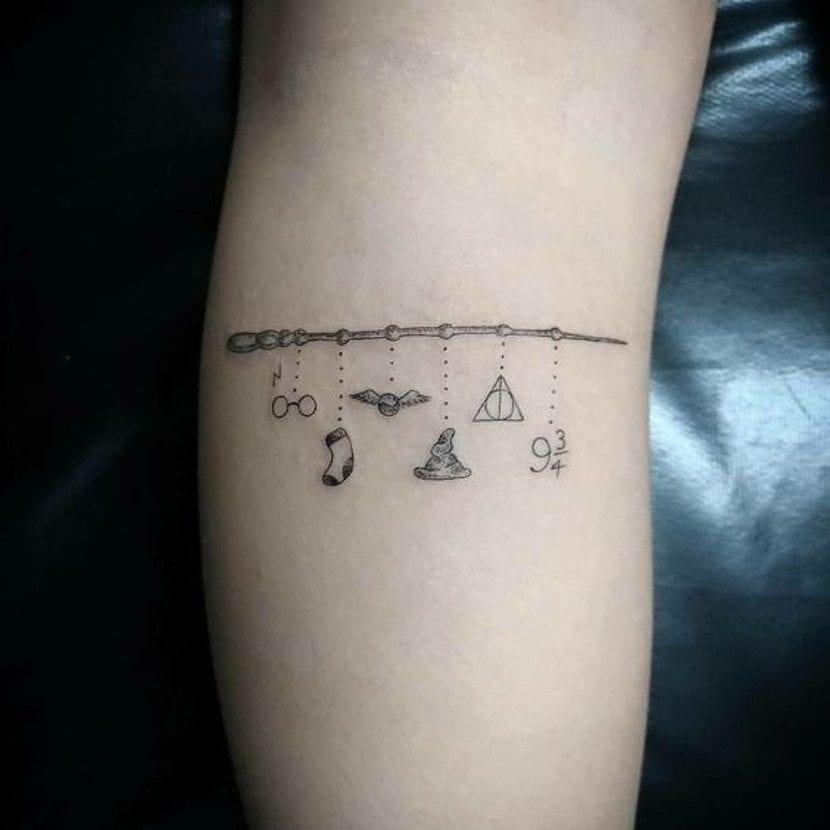 Tatuajes charm Harry Potter