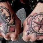 Tatuajes de anclas en la mano