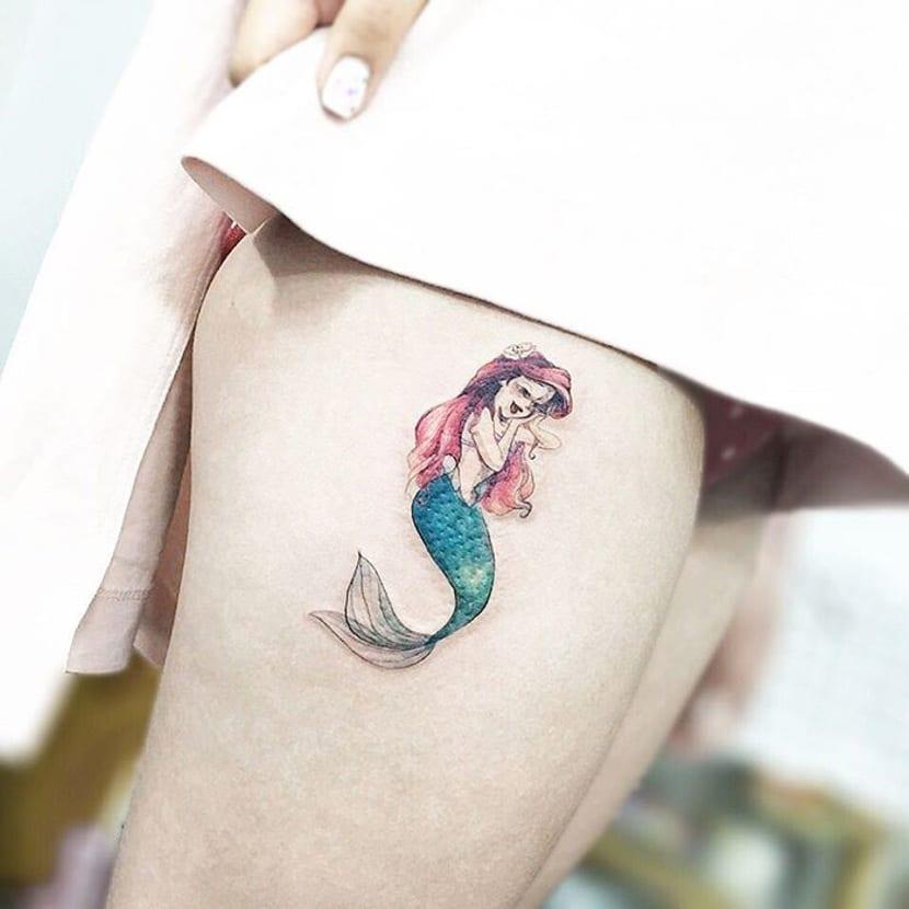 Tatuajes de La Sirenita