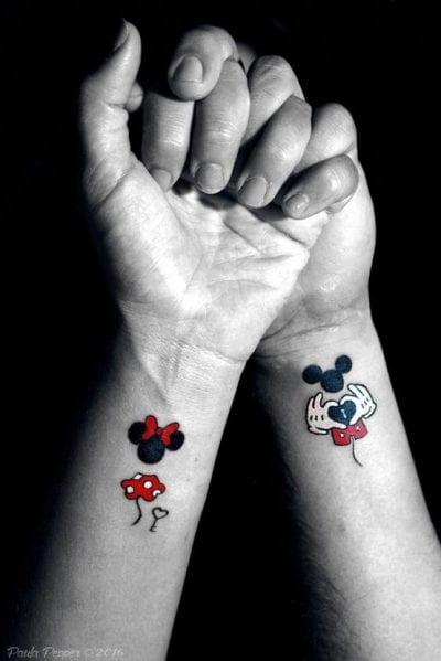 Tatuajes de Mickey y Minnie brazo