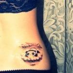 Tatuajes de osos panda en la espalda