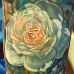 Tatuajes de rosas blancas