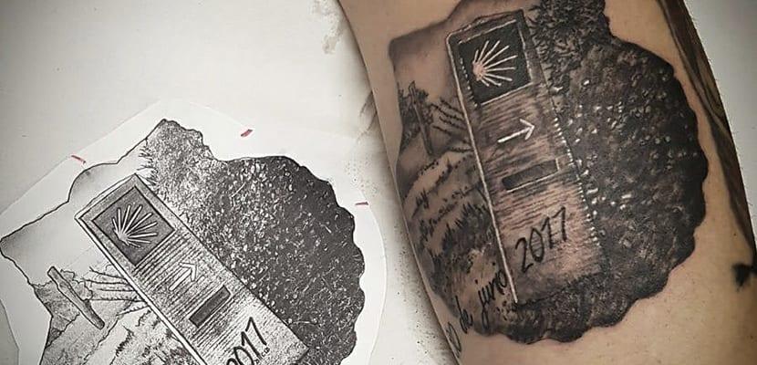 Tatuaje del Camino de Santiago