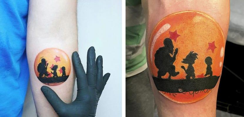 Tatuaje de bolas mágicas