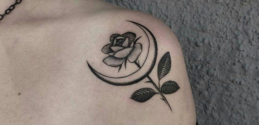 Luna con flor