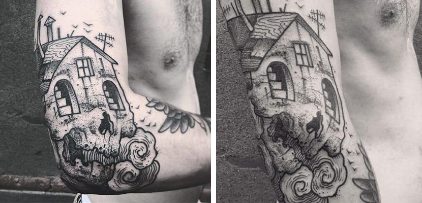 Tatuaje de casa