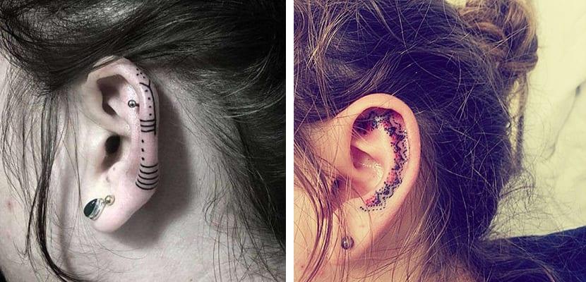Tatuajes étnicos en la oreja