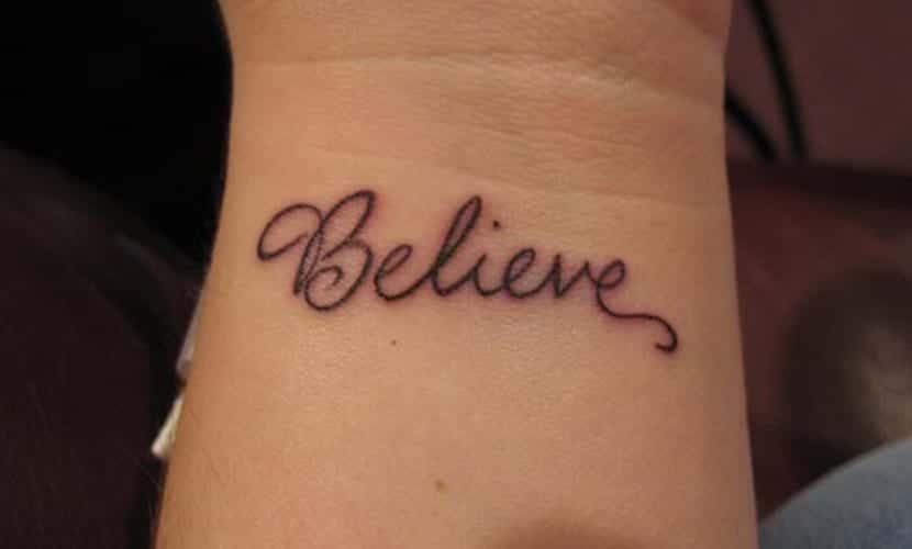 Tatuajes De Believe Recopilación De Diseños De Tatuajes Para Creer