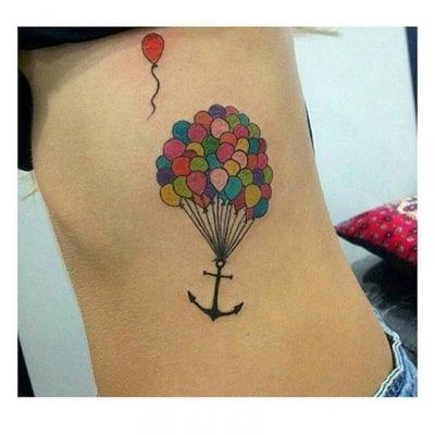 Tatuajes de globo ancla