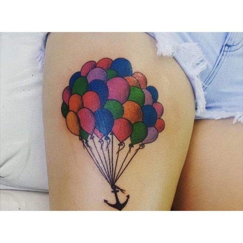 Tatuajes de globo fiesta