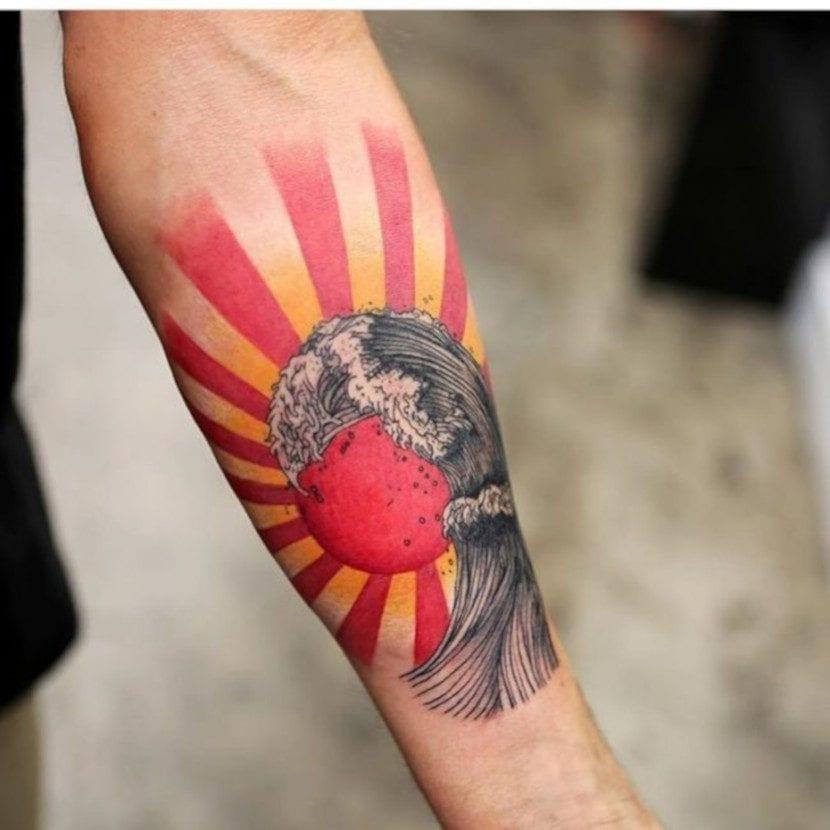 Tatuajes de olas de mar