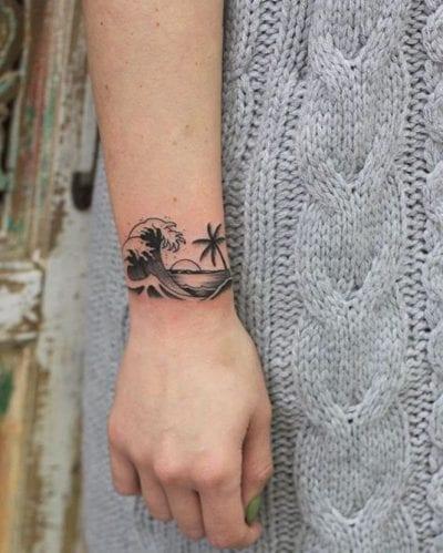 Tatuajes de puestas de sol pulsera
