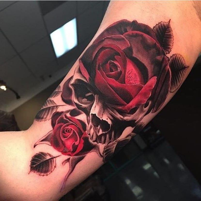 Beautiful Sugar Skulls Drawings Tatuajes de rosas y ca...