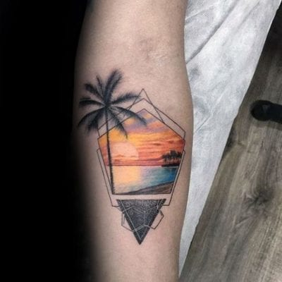 Tatuajes de surf playa