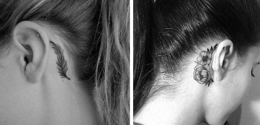 Tatuajes detrás de la oreja