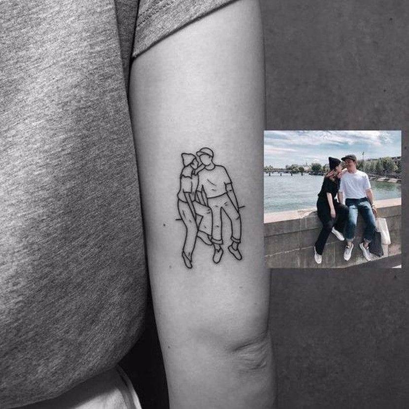 Tatuajes familiares pareja