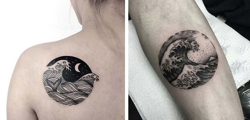 Tatuajes de paisajes de mar